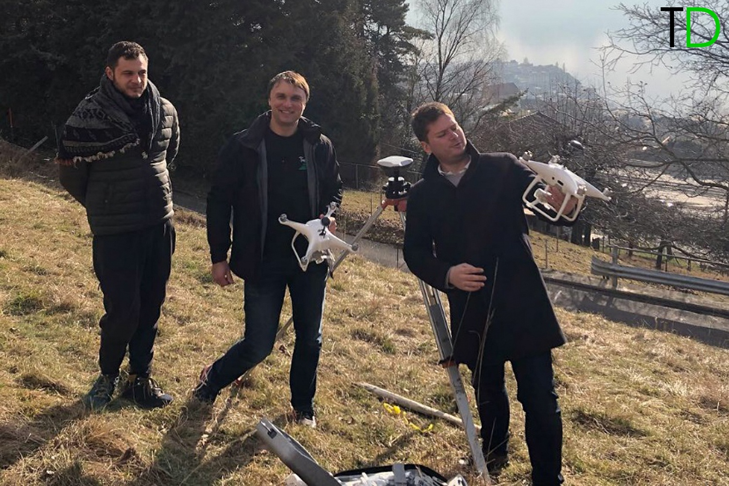DJI Phantom 4Pro RTK/ PPK UAV survey for design & construction in Switzerland